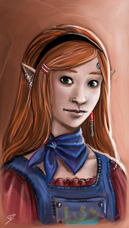 Shadowrun-Charakterskizze: Meine Soo-Lan 'Steeldaisy' Yaoh