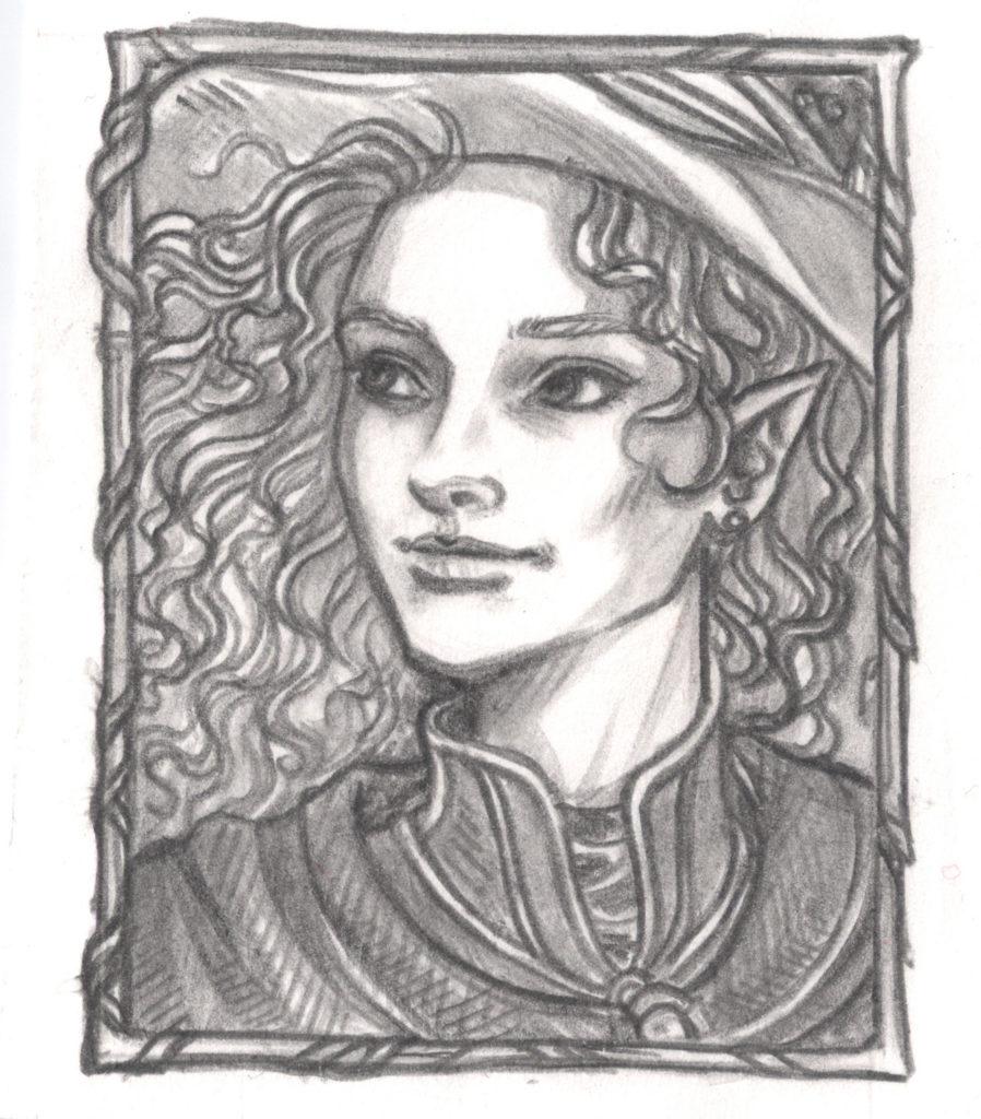 Katjenka, eine bornische Magierin und Halbelfe